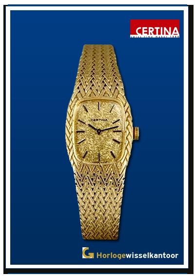 Certina-horloge-Gouden-dames-horloge