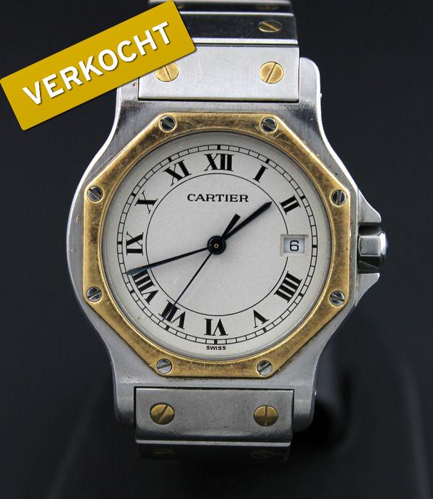 Cartier-Santos-heren-horloge-verkocht