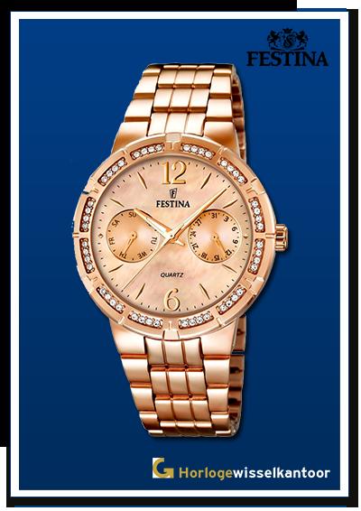 Horlogewisselkantoor-Festina-Chrono-Dames-Rose-horloge