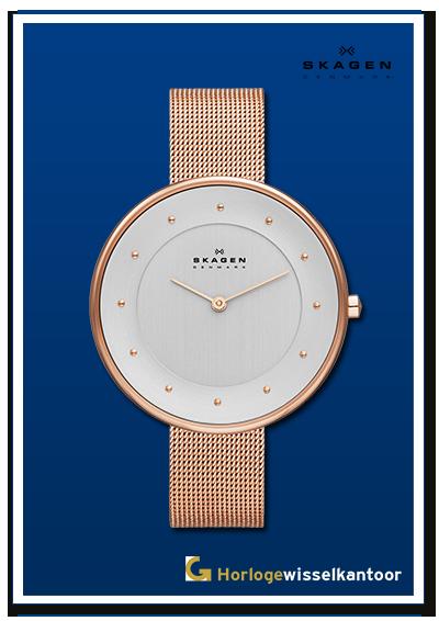 Horlogewisselkantoor-Skagen-dames-rose-horloge