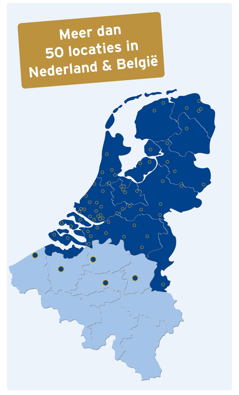 Overzicht kantoren in Nederland & België