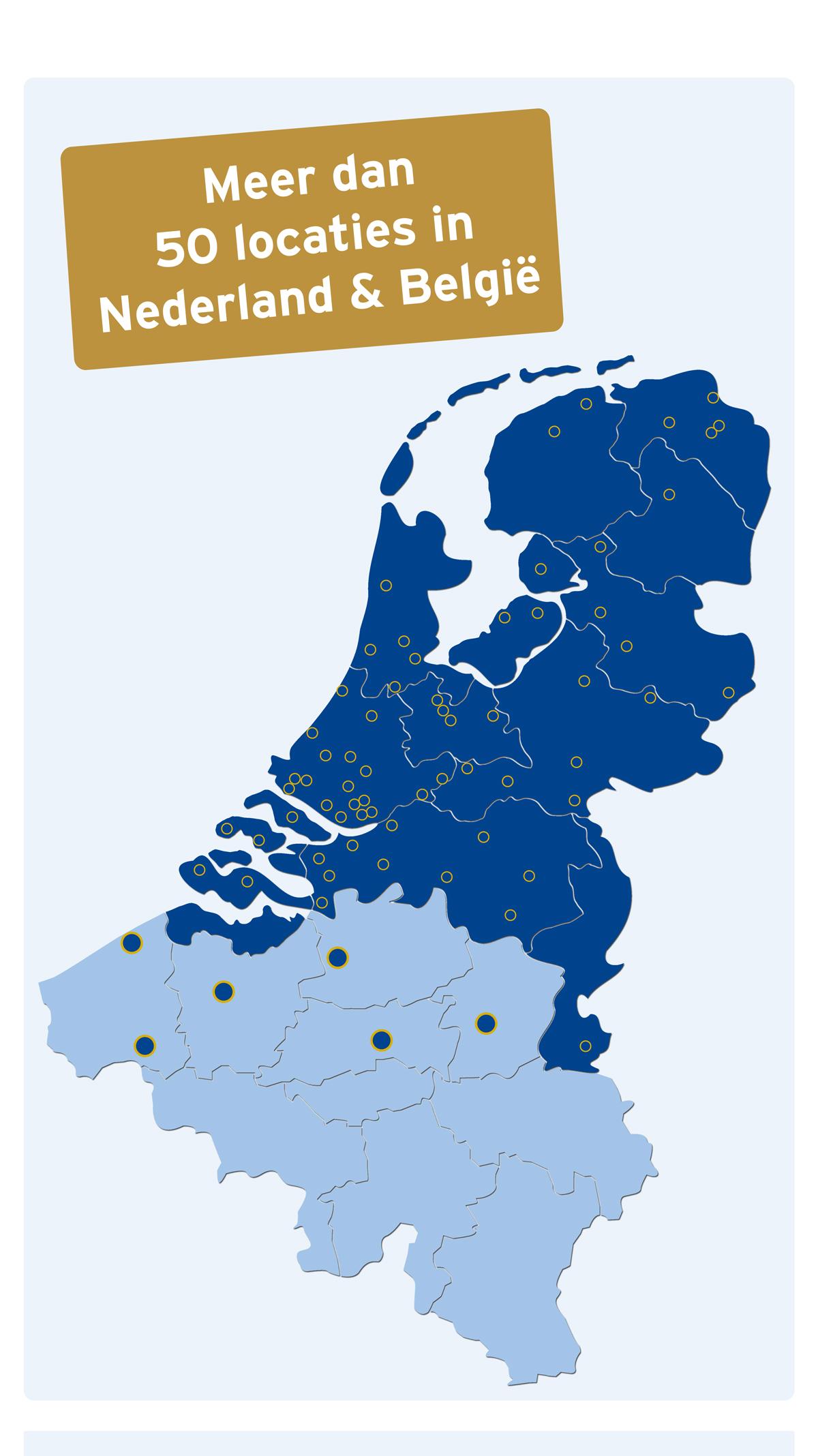 Kantoren Nederland en België