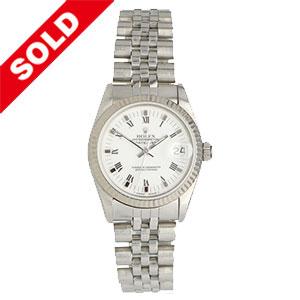 Rolex Datejust White Roman Dial 1989
